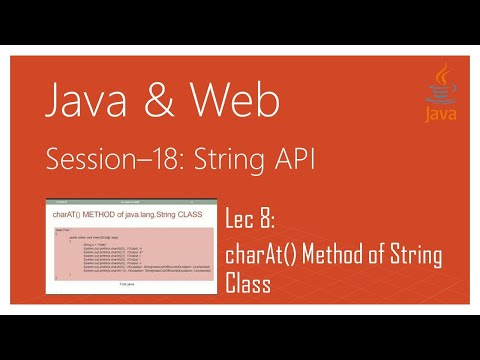 String API in Java | #8 | charAt() Method of java.lang.String Class in Java