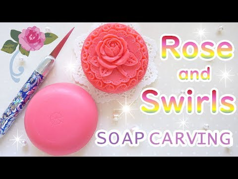 SOAP CARVING| Angled View Of A Rose And Swirls | Advanced | Satisfying | Tutorial |