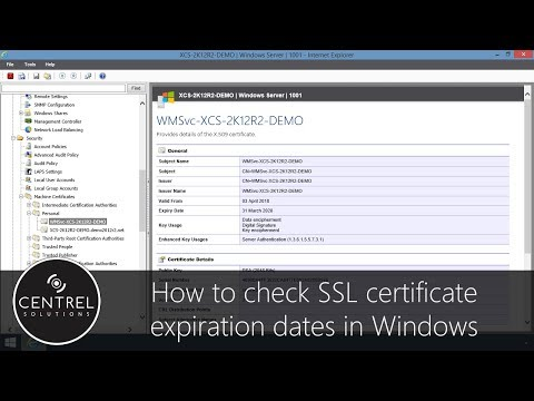 How to check SSL certificate expiration date in Windows