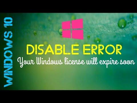 How to Disable Windows 10 Error