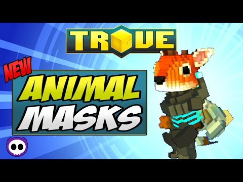 HOW TO GET ANIMAL MASKS IN TROVE ✪ Trove Animal Helmet Guide & Tutorial