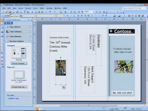 Create professional brochures and communication materials with Microsoft Publisher 2007