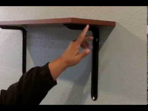 How to Hang Shelves on Drywall that will Stay