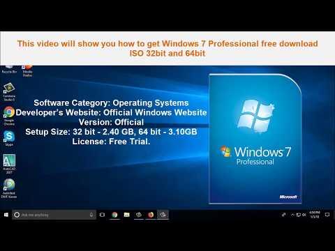 Windows 7 Professional Free Download ISO (32Bit & 64 Bit) 2018