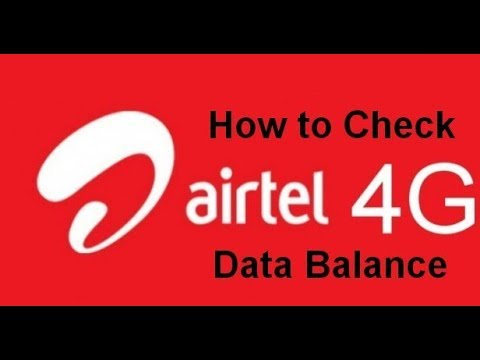 How to Check Airtel 4G Data Balance | USSD Code and Airtel App