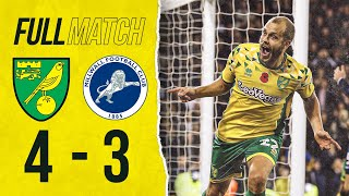 FULL MATCH REPLAY | Norwich City 4-3 Millwall | The Canaries fight back from behind in added time!