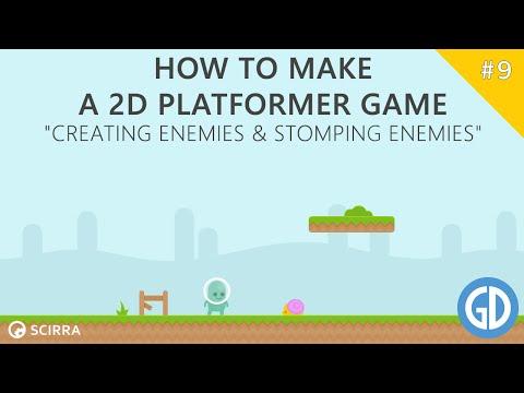 9. How To Make A 2D Platformer Game (Creating Enemies & Stomping Enemies) Construct 2 Tutorial