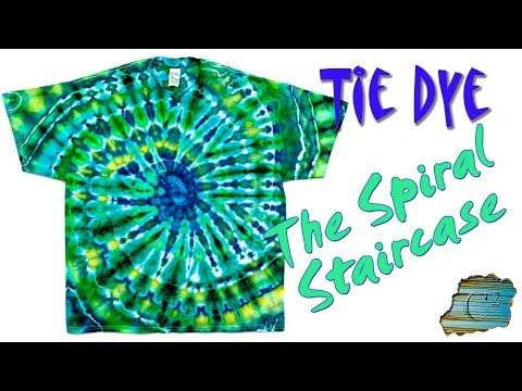 How to Tie Dye:  Spiral Staircase  [Ice Dye]