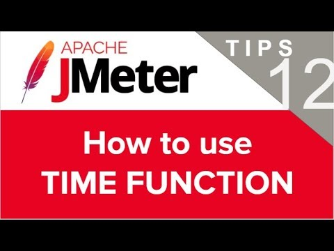 JMeter Beginner Tutorials | Tips n Tricks 12 💡 How to use TIME FUNCTION