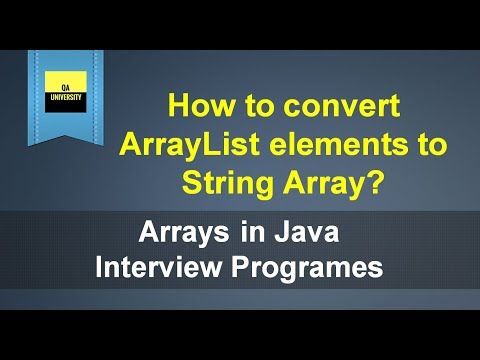 How to convert ArrayList to String Array | Java Interview Question and Answers
