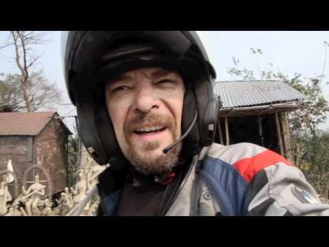 Long trip to Nepal. World tour trip motorcycle BMW R 1200 GS Adventure
