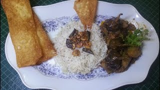 Special Aloo Baingan aur Chawal Recipe by hamida dehlvi