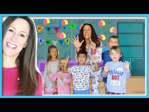 New Year's Eve Countdown Video | 10 minute countdown for Kids | Patty Shukla