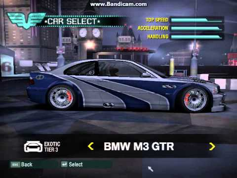 Need for Speed Carbon Unlocked All Cars J2P