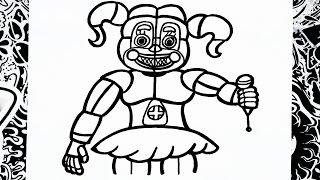 Como Dibujar A Ballora De Fnaf Sister Location How To Draw
