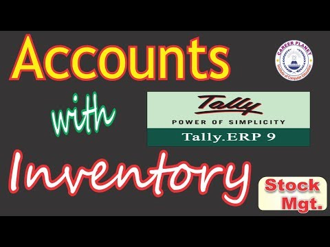 Tally ERP-9 Accounts with Inventory Basic Class-Hindi|Stock Group, Item,Units|Stock Mgt. in Tally
