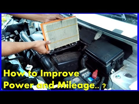 Renault Kwid Improve Mileage and Performance - Clean or Replace Clogged Air Filter