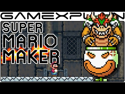 Super Mario Maker - Customizing Bowser & Bowser Jr Boss Fights