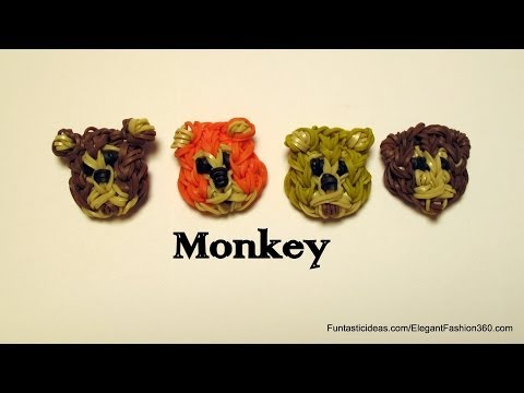 Rainbow Loom Monkey Face Emoji/Emoticon Charm - How to