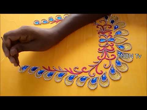 latest maggam work designs | simple maggam work blouse designs | hand embroidery works online