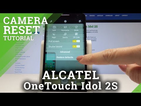 How to Reset Camera on ALCATEL OneTouch Idol 2S - Restore Camera