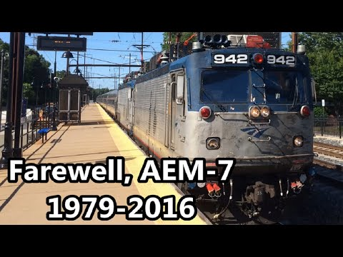 Farewell, AEM-7: Amtrak's Farewell to the AEM-7 Excursion Around Maryland