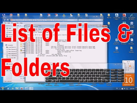 How to Create A Printable List of Files and Folders in A Directory - Windows Helping Trick r list