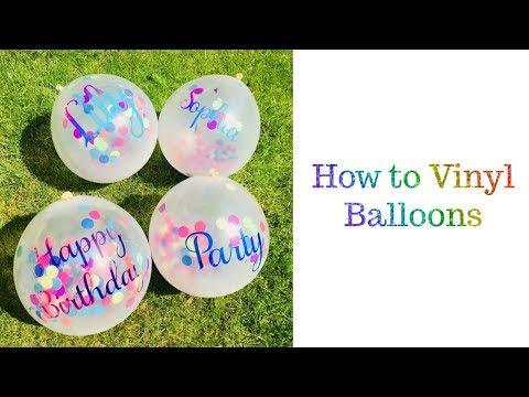 How to vinyl Balloons