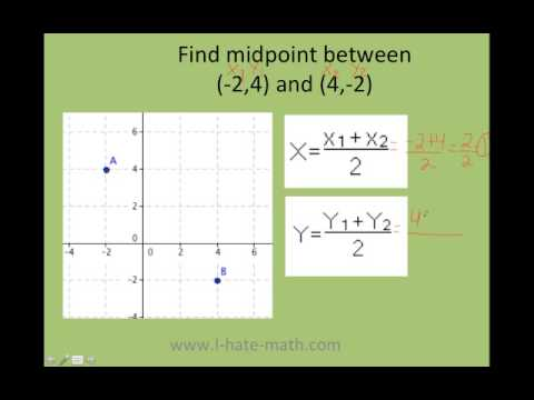 How to find the midpoint between two points