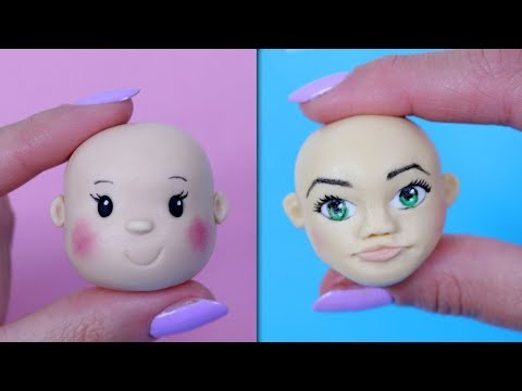 How To Make Fondant Face Tutorial (Simple and Advanced version)