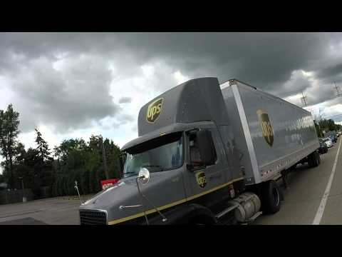 Bad UPS Driver uses 18 wheeler as weapon