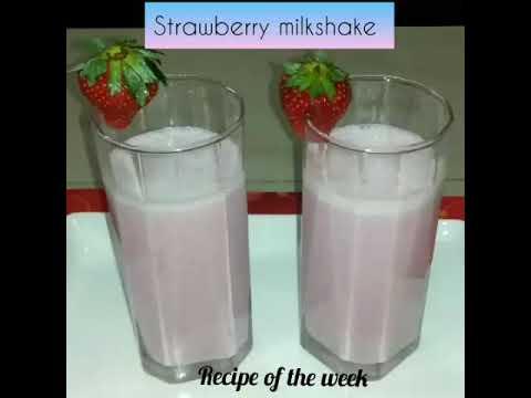 Strawberry milkshake/milkshake/ફટાફટ ઘરે જ બનાવો આ રીતે સ્ટોબેરી નો મિલ્કશેક