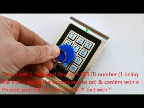 K401-I keypad - How to add a key fob or card