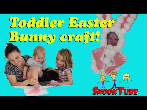 Toddler Easter Bunny Craft!