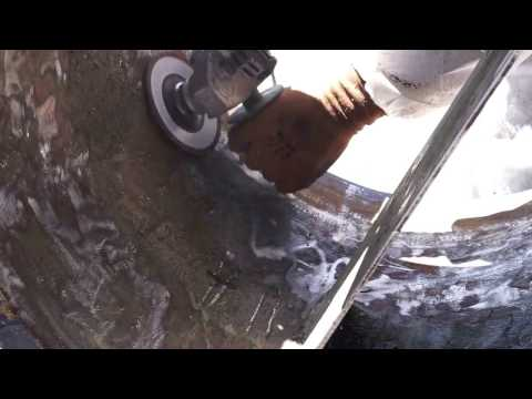 Angle grinder - metal cleaning