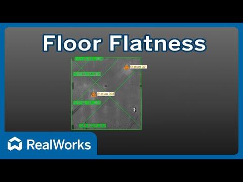Trimble RealWorks Floor Flatness and Levelness FF FL Tutorial Video
