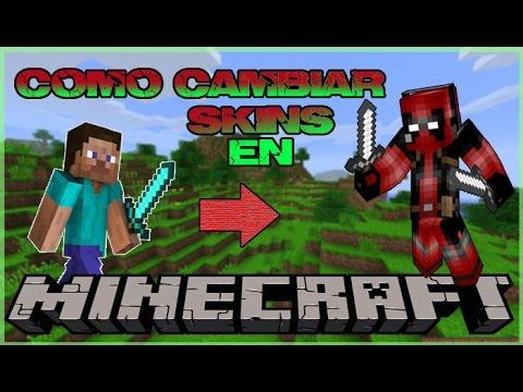 COMO CAMBIAR SKIN en Minecraft TODAS LAS VERSIONES/SIN PROGRAMAS/100%/No Premium