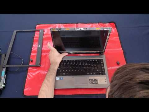 Laptop screen replacement / How to replace laptop screen in an Acer Aspire 4810TZ-4870