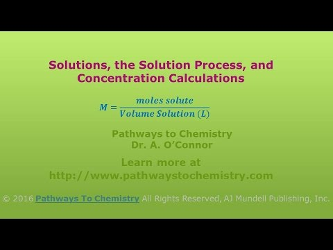 Solutions, The Solution Process, and Concentration Calculations