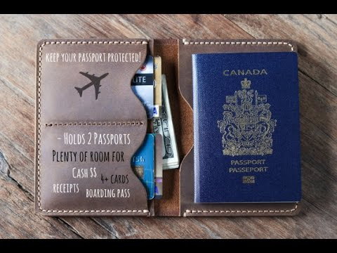 Leather Travel Wallet for your Passport by JooJoobs