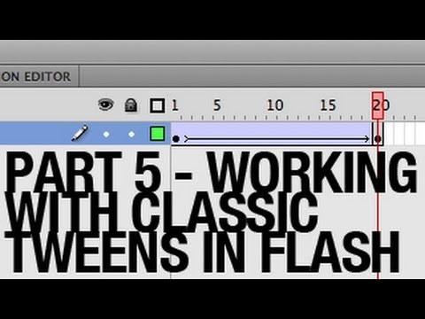 Working with Classic Tweens in Flash - Part 5 - Adjusting the Distance Between Keyframes