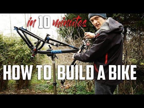 HOW TO BUILD A BIKE in 10 MINUTES (German/Deutsch)