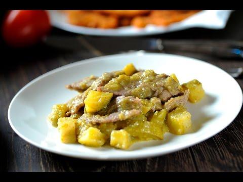 Bistec de res en salsa verde - Receta fácil de preparar