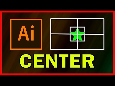 How to center an Object in Adobe Illustrator CC 2019 - Tutorial