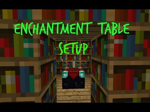 Minecraft Enchantment Table Set Up | Max Enchantment 15 Bookshelves Xbox 1