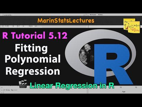 Polynomial Regression in R (R Tutorial 5.12)
