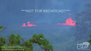 5-17-2017 Kapoho, Hi Kilauea volcano fissure eruptions, huge lava flows, fountains and explosions 4k
