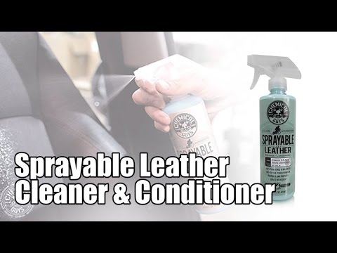 Sprayable Leather Cleaner & Conditioner in One - Chemical Guys Car Care