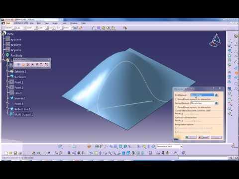 CATIA V5 - Surfacing Basics - Wireframe