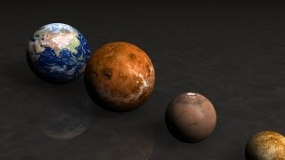 PLANETS AND STARS SIZE - COMPARISON - EARTH SIZE